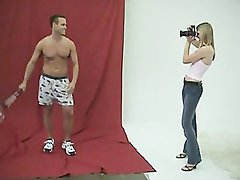 CFNM - Shy Man Has to Strip Naked for Woman Photographer