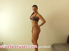 Natural czech buxom dark haired at the casting