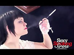 Smoking Fetish - Rory White Formal Gown Holder