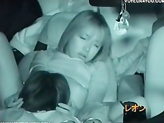 Sensual japanese voyeur shot sex car