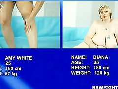 Heavy Amy wrestling with Big beautiful woman tempting blonde Diana